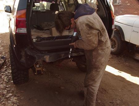 montero sport custom rear bumper