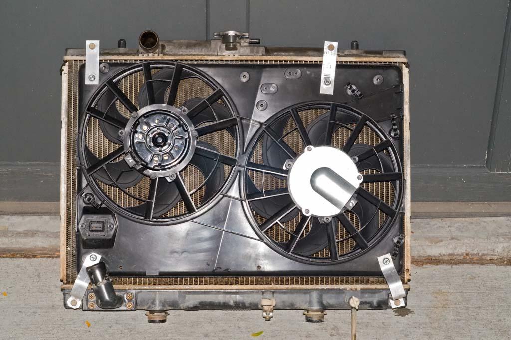 mitsubishi 3.0 5-speed radiator ford contour fans